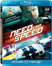 NEED FOR SPEED-SPECIAL EDITION BLURAY 3D/DVD COMBO PACK-REGION B/2-NR-RARE & OOP