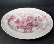 """ROYAL STAFFORDSHIRE CLARICE CLIFF """"CHARLOTTE"""" MULBERRY/LAVENDER 12"""" PLATTER"""