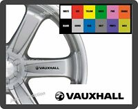 For VAUXHALL  8 x Alloy Wheel - CAR DECAL STICKERS - 95mm long