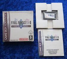 Final Fantasy I & II Dawn of Souls, Nintendo Gameboy Advance Jeu Neuf dans sa boîte instructions