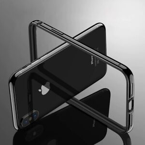 For iPhone 11 Pro X Bumper Case Aluminum Metal Frame Armor Cover Rugged Silicon