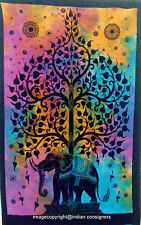 HomeDecor Elephant Tree Of Life Cotton Tapestry Hippie Wall Hanging Poster 40*30