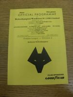 23/10/1991 Wolverhampton Wanderers Reserves v Stoke City Reserves  (4 Pages). Th