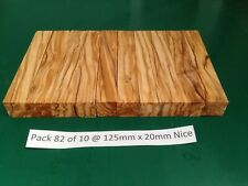 "Pak 82 of 10 Nice Italian Olivewood Pen Blanks 125 x 20,""May 2020 New Stock"""