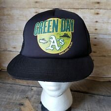 Green Day Oakland A s Cap Hat Snapback Size 58cm Mesh Trucker NOS 6caf17261766