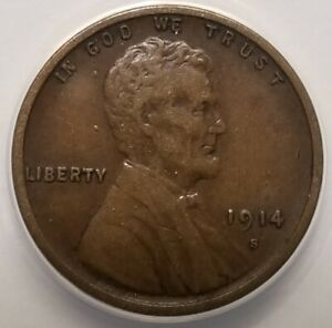 U.S. 1914-S Lincoln Wheat Cent - 1c - XF40!! Key Date