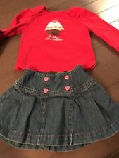 """Gymboree Skirt Outfit """"Daddy's Little Sweetie"""" Size 2T"""