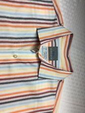 Thomas Dean Striped Boys Size XL 18-20 Button Down Shirt $32