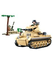 Sluban WWII German Army Small Tank Construction brick set Army Childs Toy B0691