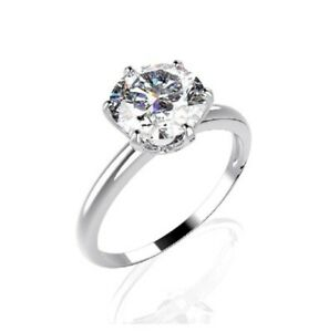Silberring mit Moissanit weiß Solitär 925er Silber Ring Solitärring Damenring