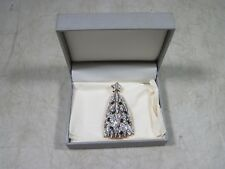 Vintage 1998 Signed Swarovski Christmas Tree Pin Brooch Jewelry