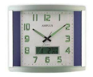 Amplus Digital/analogue Wall clock with sweep movement PW041B