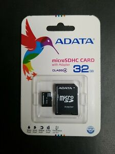 32Gb MicroSDHC Class 4 Flash Memory Card With Adapter