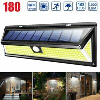 180 LED Solar Light PIR Motion Sensor Light Waterproof Garden Yard Lamp Outdoor
