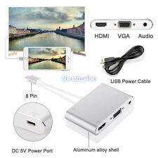For i5s i6 i6s i7 i7 Plus ipad To HDMI VGA Audio TV AV Adapter Converter Cable
