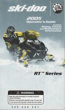 New listing 2005 SKI-DOO SNOWMOBILE RT SERIES  OPERATOR'S MANUAL 520 000 501 (257)