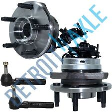 NEW 4 pc Kit - 2 Front Wheel Hub and Bearing Assembly w/ ABS + 2 Outer Tie Rods