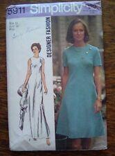 Vintage Simplicity Sewing Pattern~5911~1973 Designer Fashion Dress