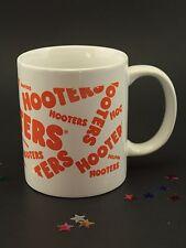 Hooters, Coffee Mug, White Ceramic, Restaurant Bar, Orange Logo Graphics