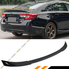 FOR 2018-19 HONDA ACCORD 10TH GEN V TYPE PAINTED BLACK PEARL TRUNK LID SPOILER
