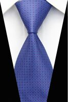 New GZ102 Blue Red Plaid Classic JACQUARD Woven 100%Silk Mens Tie Necktie Party