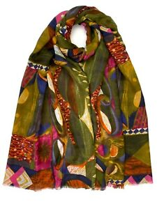 New Women Oil Painting Printed Scarf Large Fashion Premium Soft Hijab Shawl Wrap