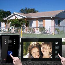 7'' LCD TFT Videocitofono Wireless Video Doorbell Citofono Campanello Monitor EU