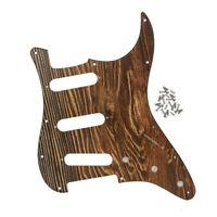 Strat SSS Pickguard 11 Hole Wood Color Scratch Plate Screws for FD Strat Guitar