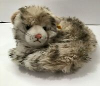 Steiff 22cm curled up cat ean 2750/22 mint condition