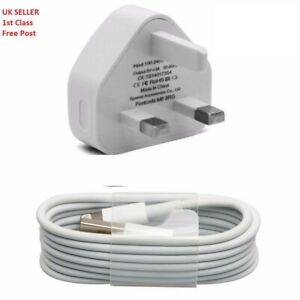 100% Genuine CE Approved Charger Plug And USB Lead Cable for Apple 8 7 6 X XS XR