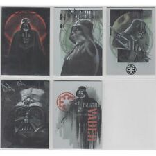 2016 Topps Star Wars Rogue One Mission Briefing Darth Vader 5 Card Set