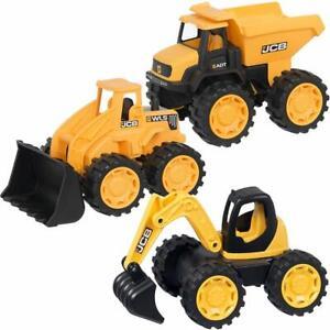 JCB 1:32 Children Kids Excavator Construction Truck Digger Loader Vehicle Toys