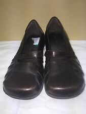Aldo Likuid Mary Jane women Flats Shoes Size 37/ 6.5 Brown Leather