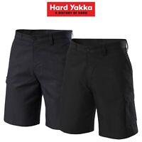 Mens Hard Yakka Gen Y Cargo Shorts Poly Super Crease Work Press Comfy Y05590