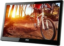 AOC E1659FWU 15.6 inch Portable Widescreen USB 3.0 Powered LED Monitor with Case