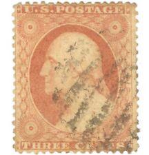 US #25A Series of 1857-61 3¢ Washington Type II, Used