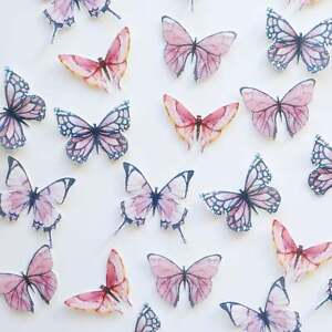 Edible Pre-Cut Wafer Butterfly - Pink and Purple