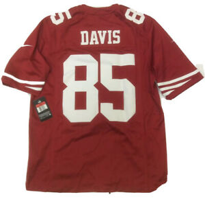 New Vernon Davis Large San Francisco 49ers Nike Mens Red Limited Tags Jersey
