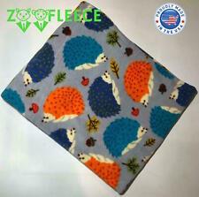 "ZooFleece Hedgehog Blanket Quilt Pet Porcupine Spiky Mammal Cute Animal 50X60"""