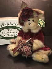 "BEARINGTON BEARS 14"" VIRGINIA w/ RED VELVET COATRETIRED ORIGINAL BOX W/TAGS"