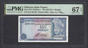 Malaysia One Ringgit ND(1981-83) P13b Uncirculated Graded 67
