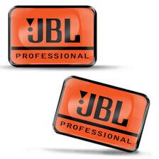 2 x 3D Silikon Aufkleber JBL Kopfhörer Sprecher Bluetooth Logo Emblem Abzeichen