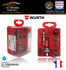 Boite ampoule voiture H1-H7 12 Volt + 4 ampoules + 3 fusibles WURTH