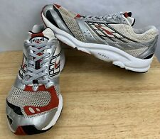 Brooks Dyad 4 Size 10 Mens Running Shoes Sneakers White Red