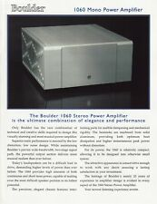 Boulder 1060 Mono Power Amp Brochure 2002