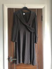 Armani Mink Colour Silk Wrap V Neck Party Dress Size 44 Uk 12