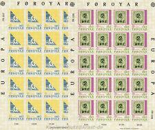 EUROPA CEPT 1979 POSTWESEN - FÄRÖER FOROYAR 43-44 KLEINBOGEN **