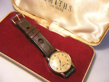 VINTAGE  SMITHS DELUX 9CT 375 GOLD WATCH WITH CASE
