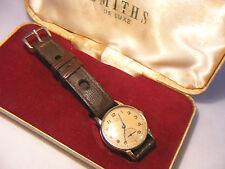 Vintage Smiths Delux 9CT 375 Reloj De Oro Con Estuche