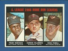 1967 Topps #243 AL HR Ldrs - Killebrew/F. Robinson - EX/MT+ additional ship free